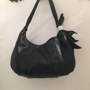 Brighton black leather hobo bag